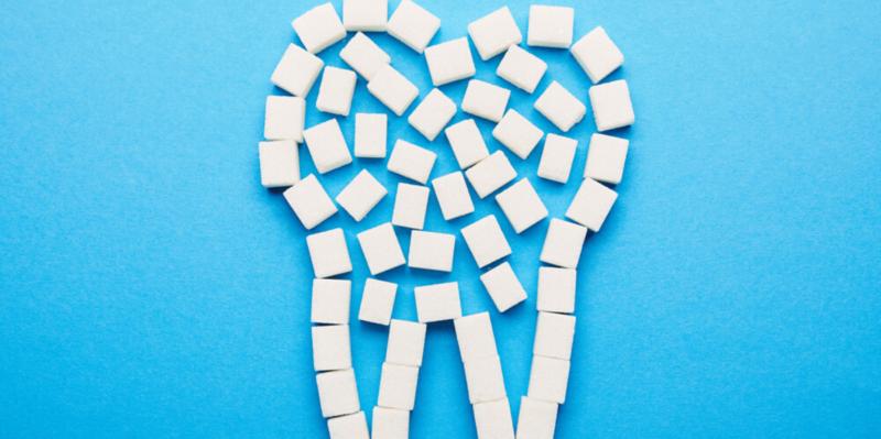 Efecto del azúcar en los dientes
